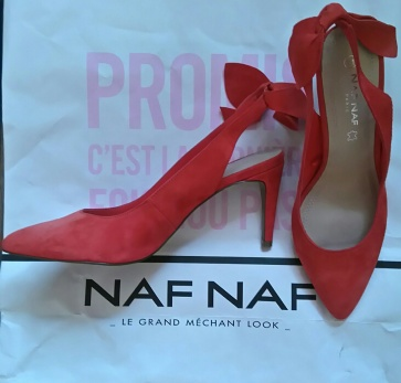 Chaussures coquelicot Naf Naf