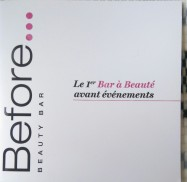 Before Beauty Bar Carte des soins